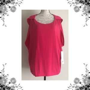 {Lole} Lia Oversized Pink Athletic Tank Top